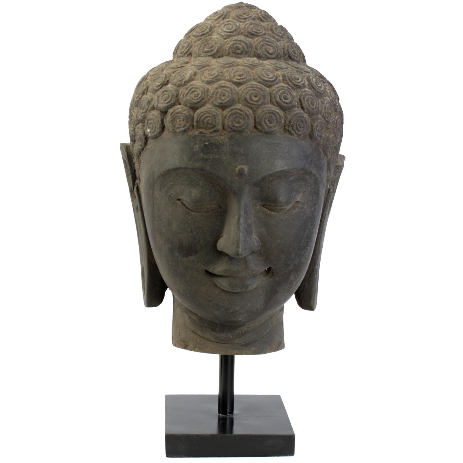 Buddha Kopf Aus Lavastein 54 Cm Bali Steinfigur B Ste 118285