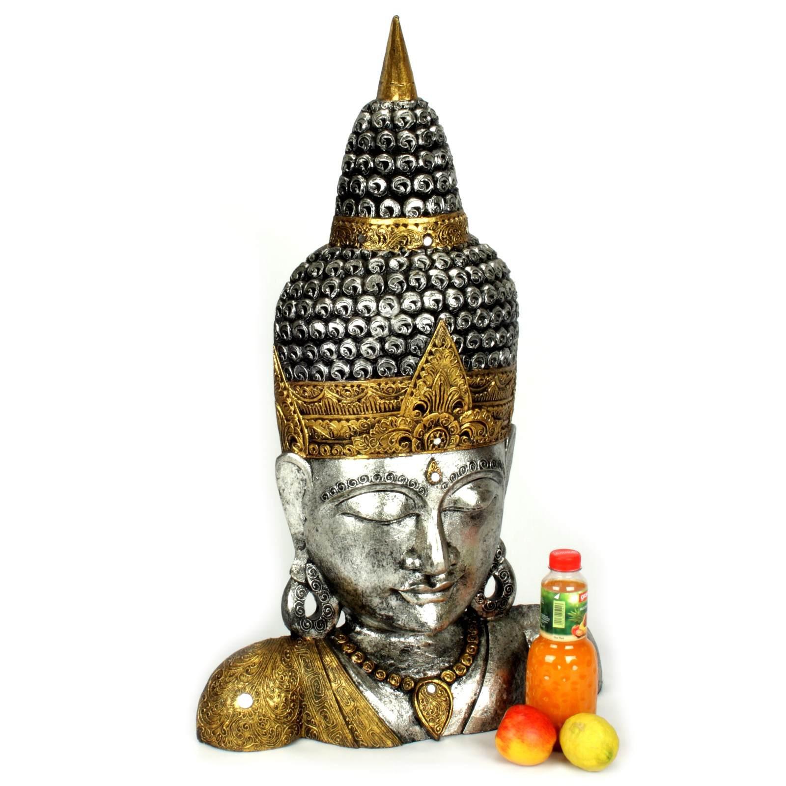 buddha figur buddha kopf 90 cm 118841. Black Bedroom Furniture Sets. Home Design Ideas