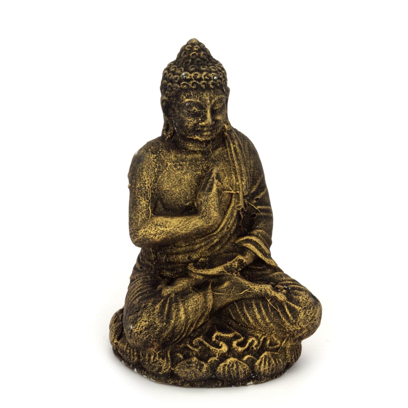 buddha figur 12 cm lava guss 118866. Black Bedroom Furniture Sets. Home Design Ideas